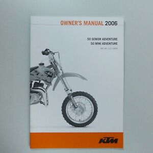 KTM 50 Senior Mini Adventure Bedienungsanleitung Manual Owners Manual 2006 - 19.90,Kaufpreis 19,9,datum 19.10.2020 10:03:31,Website